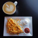 waffled omelette breakfast